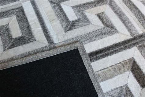 Cowhide Pattern Rug by Madisons Gray And White Cowhide Rug Patchwork Maze Pattern