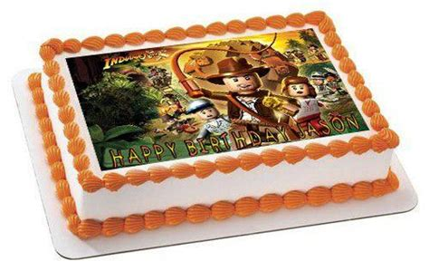 indiana jones lego edible birthday cake orcupcaketopper