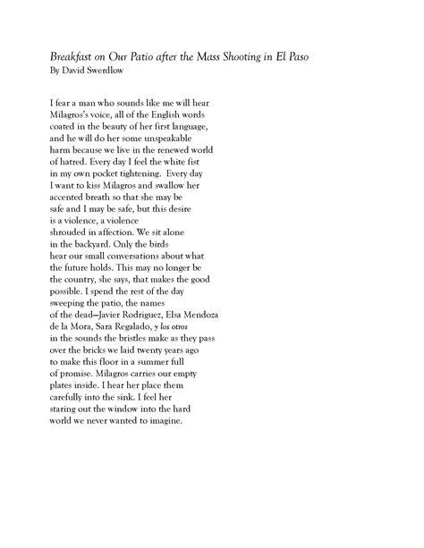 westminster professors poem written  response  el