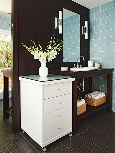 Double Sided Bathroom Vanity  Contemporary  Bathroom Bhg