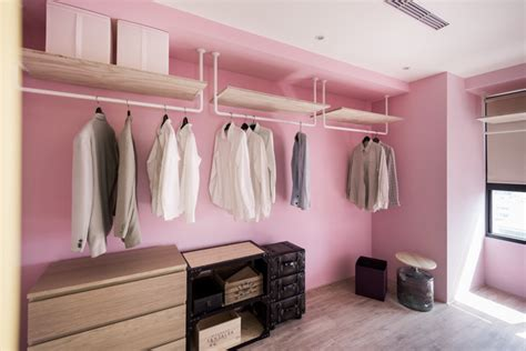 Work In Closet Design by An Eclectic Loft Designed For Cats And Their Humans