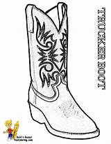 Coloring Boots Cowboy Trucks Sheets Drawing Boot Sheet Timberland Stone Template Yescoloring Cold Boys sketch template