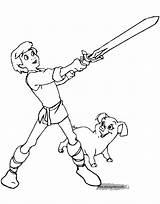 Coloring Pages Cauldron Printable Disneyclips Taran Disney Princess Eilonwy Boys Gurgi Henwen Orwen Funstuff sketch template