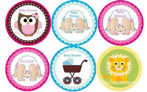 Personalized Stickers For Baby Shower - mis 2 manos made by my baby shower stickers 2 inch