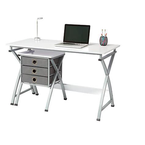 office depot white desk brenton studio x cross desk and file set white by office