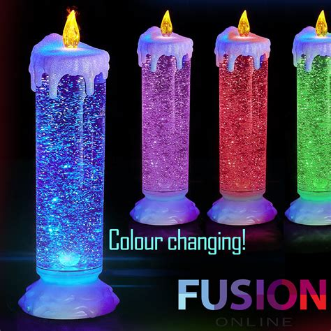 light up candles 6pc flickering led flameless wax mood candles with
