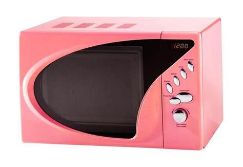 colorful microwaves der mikrowellen ist rosa und klein kuche
