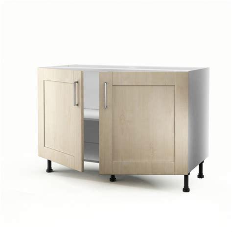 meuble evier cuisine leroy merlin meuble de cuisine sous évier blanc 2 portes ines h 70 x l