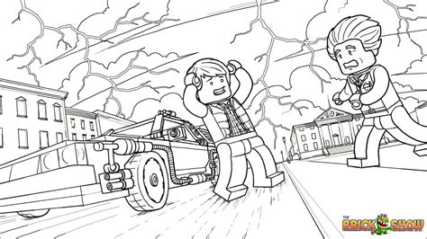 Lego Pieces Coloring Pages