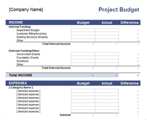 excel budget templates