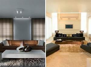 tapis shaggy gris beige ou blanc en 120 idees pour le salon With tapis shaggy avec canapé beige taupe