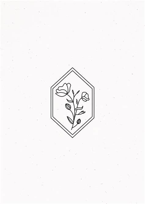 Floral geometric illustration | Tattoo designs, Tattoos, Floral drawing
