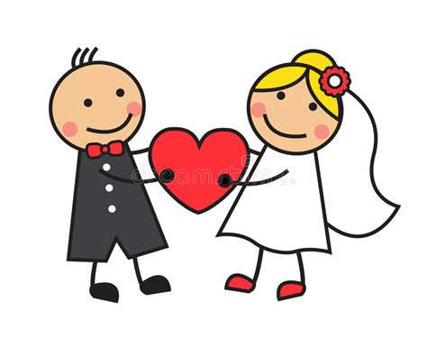 Cartoon Wedding Stock Illustration. Illustration Of Doodle
