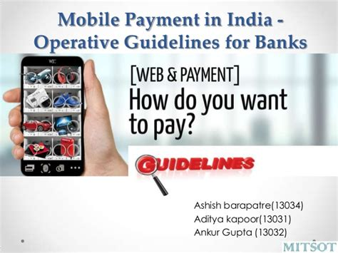 india mobile payment mobile payment in india operative guidelines for