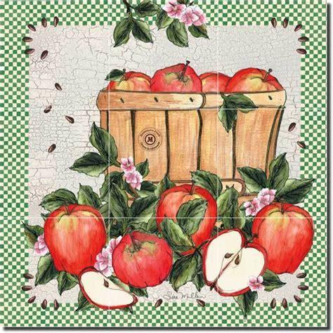mullen fruit apple art decor kitchen ceramic tile mural ebay