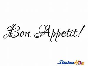 Bon Appetit Kitchen Vinyl Wall Decal #2 Graphics Home and