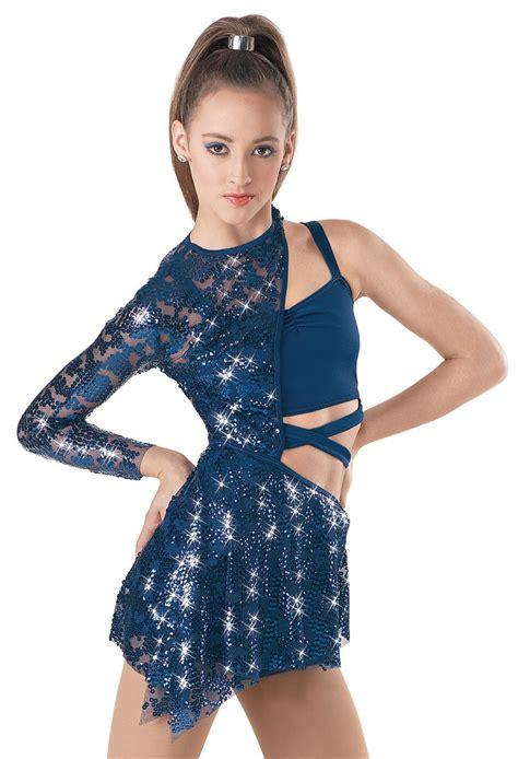 Weissman™ | Asymmetrical Sequin Lace Biketard | Dance ...