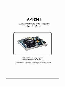 Avr341 Generator Automatic Voltage Regulator Operation