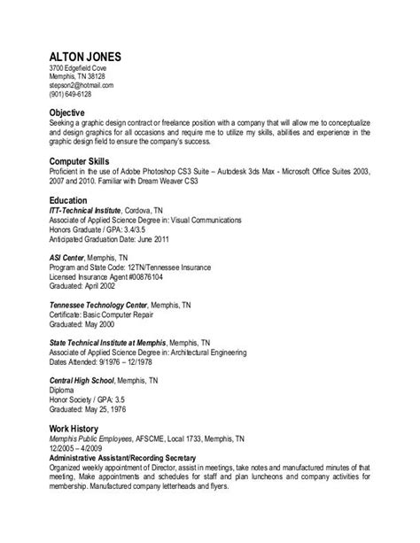 Resume In Plain Text by Resume By Alton Jones At Coroflot