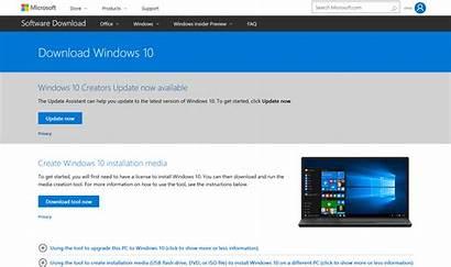 Update Windows Creators Tool Software Assistant Usb