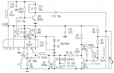 Wireless Microphone Circuit Diagram Telephone Related