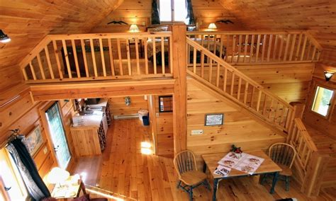 Log Cabin with Loft above Porch Log Cabin with Loft