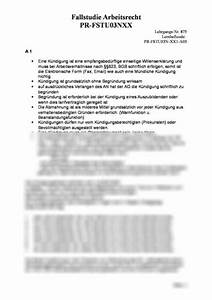 Fälligkeit Rechnung Bgb : fallstudie arbeitsrecht f r staatl gepr betriebswirt k ndigung pr fstu03nxx studienleistung ~ Themetempest.com Abrechnung