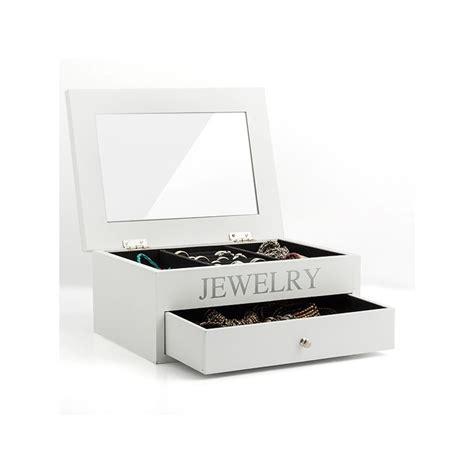 coffret 224 bijoux en bois avec rangements tiroir et miroir
