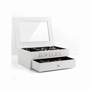 Boite A Tiroir : boite coffret bijoux en bois avec rangements tiroir et miroir ~ Teatrodelosmanantiales.com Idées de Décoration