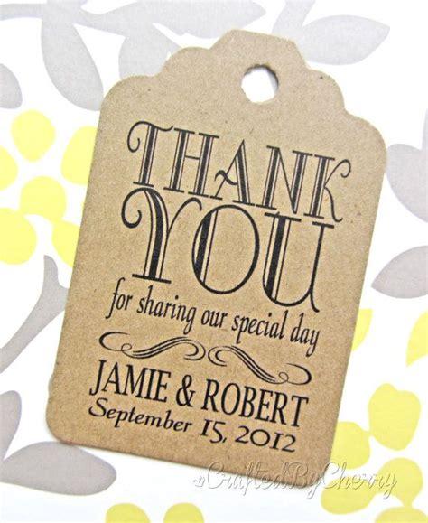 custom thank you wedding favor tags kraft by