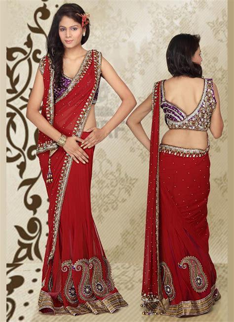 wearing saree    styles stylefortune