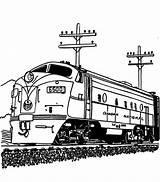 Train Coloring Diesel Engine Streamlined Drawing Railroad Steam Sketch Template Getdrawings sketch template