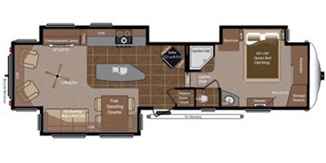 Montana 5th Wheel Floor Plans 2011 by 2011 Keystone Rv Montana Hickory Fifth Wheel Series M 3580