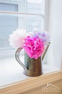 diy tissue paper flowers practically functional