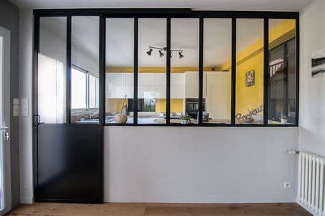 verriere coulissante pour cuisine cloison vitre cuisine construire une verrire style