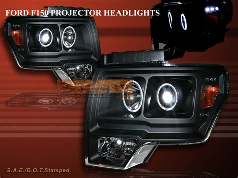 2009 2010 2011 ford f150 black halo projector