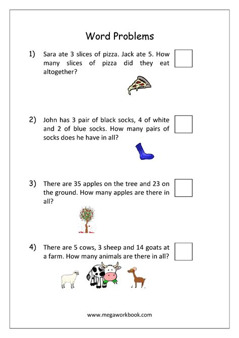 Addition And Subtraction Word Problems Worksheets For Kindergarten And Grade 1  Story Sums