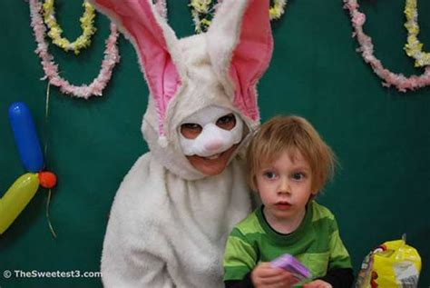 creepy easter bunny costumes pleated jeans