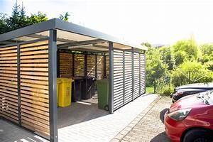 Unterstand Für Mülltonnen : einhausung stellplatz f r m lltonnen und fahrr der ~ Lizthompson.info Haus und Dekorationen