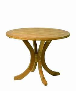 Holzplatte Rund 100 Cm : gartentisch rund 100cm teak esstische rund und ausziehbar ~ Bigdaddyawards.com Haus und Dekorationen