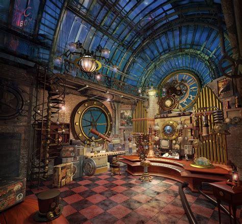 steampunk interior design style  decorating ideas