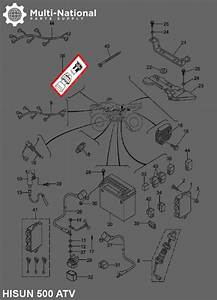 Cigarette Lighter Socket - 12v  Atv  Utv  400-800cc  Hisun - Multi-national Part Supply
