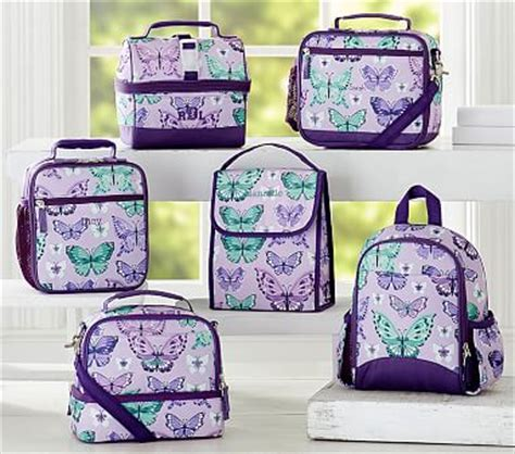 pottery barn lunch box mackenzie lavender pretty butterfly lunch bag pottery