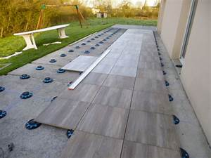 terrasse carrelage sur plot terrasses pinterest With refaire une terrasse carrelee