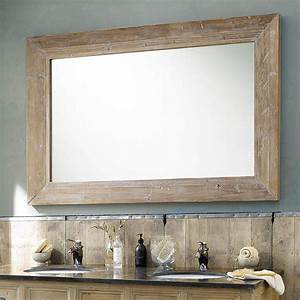 miroir en bois blanchi h 200 cm cancale maisons du monde With miroir 200 cm