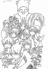 Anime Coloring Pages Soul Eater Manga Deviantart Colouring Characters Sheets Printable Goku Stuff sketch template