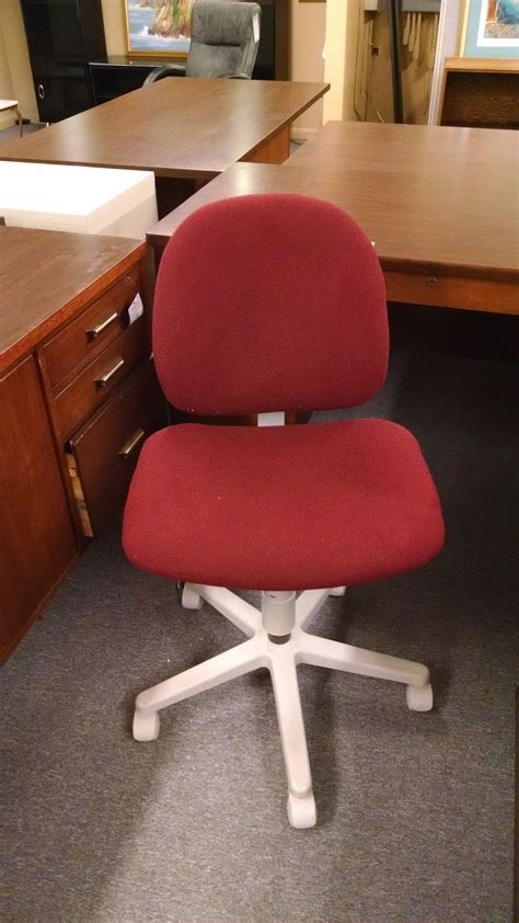 maroon office chair delmarva furniture consignment