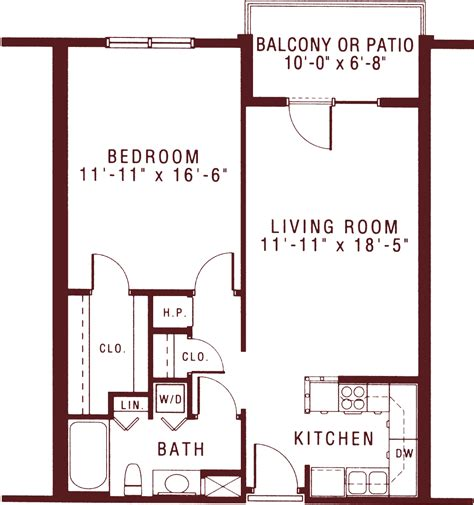 1 Bedroom Apartment Floor Plans by Spacious One Bedroom Apartments For Senior Living Riddle