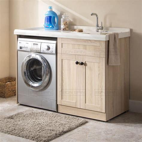 meuble bain 130 cm pose lave linge
