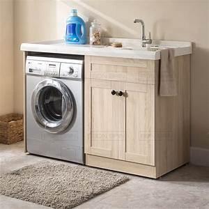 meuble bain 130 cm pose lave linge With meuble salle de bain lave linge